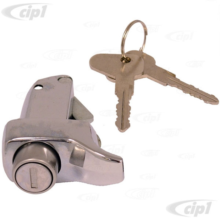 VWC-211-827-503-LCH - TOP QUALITY - ENGINE LID LOCK WITH KEYS - CHROME - BUS 72-79 - SOLD EACH