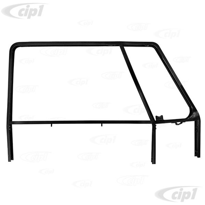 VWC-211-837-080-B - (211837080B) EXCELLENT REPRODUCTION - RIGHT FRONT DOOR WINDOW FRAME - BUS 52-67 - SOLD EACH