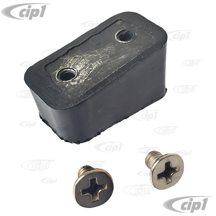 VWC-211-837-177 - (211837177) GERMAN - SLIDING DOOR STRIKER PLATE WEDGE WITH SCREWS - BUS 68-79 - T25 VANAGON 80-84 - SOLD EACH