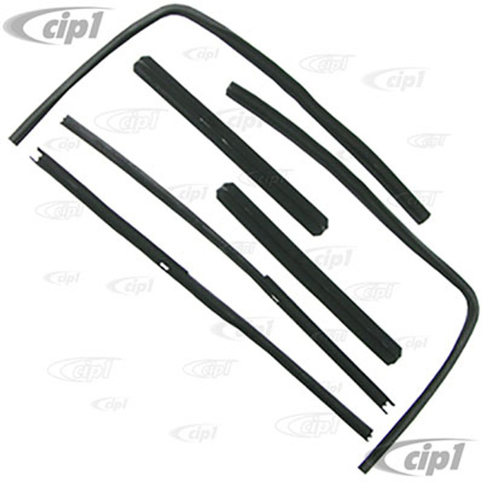 VWC-211-837-375-ABR - (211837375A) QUALITY REPRODUCTION - 6 PIECE FELT CHANNEL SEAL KIT - FRONT DOOR SLIDING WINDOWS - WILL DO BOTH FRONT DOORS - BUS 50-67 - SOLD SET