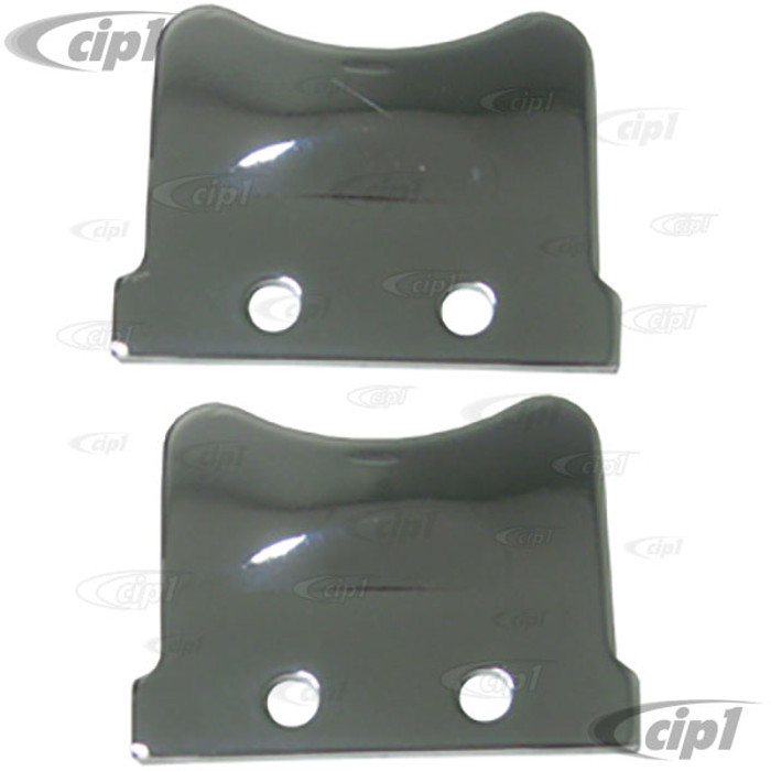 VWC-211-837-635-APR - PAIR OF CHROME VENT WINDOW LATCH PLATES - LEFT AND RIGHT - BUS 55-67 - SOLD PAIR