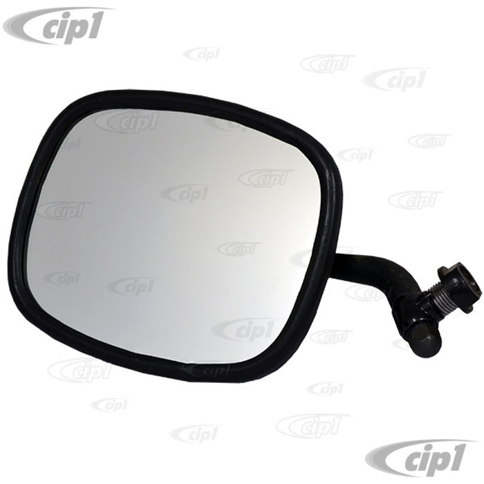 VWC-211-857-513-BLK - BLACK OUTSIDE MIRROR - LEFT - BUS 68-79 - WE DO NOT OFFER A MATCHING RIGHT SIDE VERSION - SOLD EACH