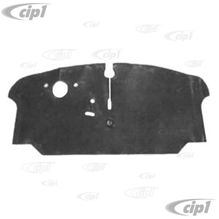 VWC-211-863-711-G - (211863711G) TOP QUALITY REPRODUCTION - FRONT BLACK RUBBER FLOOR MAT - BUS 73-79 - ORIGINAL DESIGN (NOT FOR AUTOMATIC MODELS) - SOLD EACH