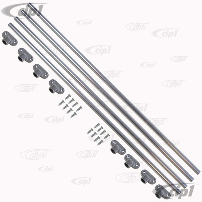 VWC-211-898-400-PR - (211898400) EXCELLENT QUALITY - JAIL BAR KIT - COVER 2 SIDE WINDOWS (BARS STANDARD FINISH - CAN EASILY BE POLISHED) - BUS 52-67 - SOLD KIT