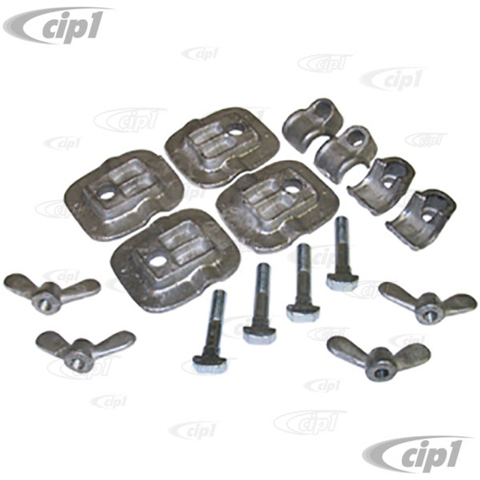 VWC-211-898-825-4 - MIDDLE SEAT TO FLOOR CLAMP KIT - 16 PIECE SET - BUS 52-79