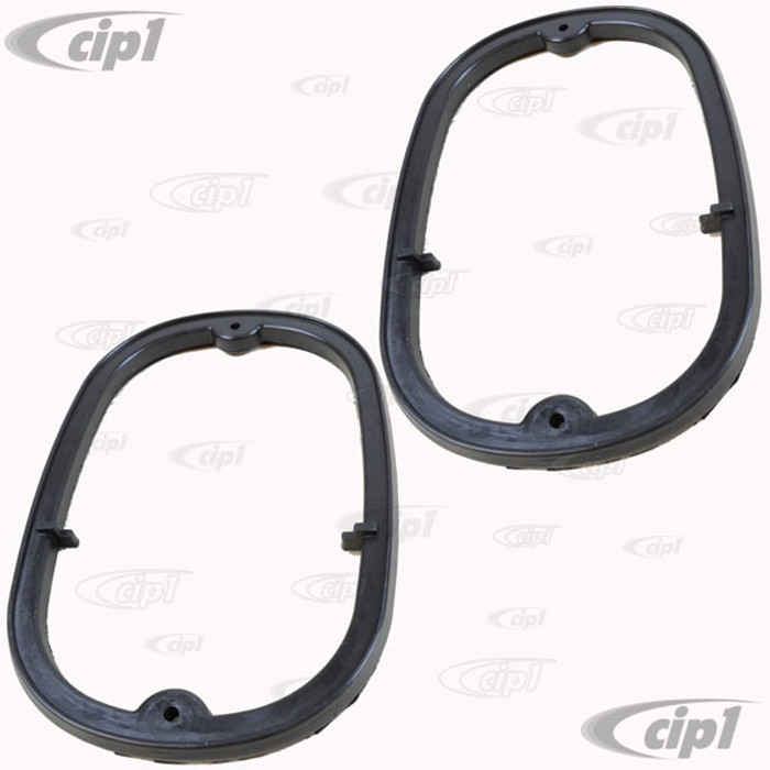 VWC-211-945-245-APR - (211945245A) - EXCELLENT EUROPEAN MADE - PAIR OF TAIL LIGHT SEALS - TAIL LIGHT ASSEMBLY TO BODY (EUROPEAN SPEC. ONLY - NOT USA VERSION) - BUS 62-71 - SOLD PAIR