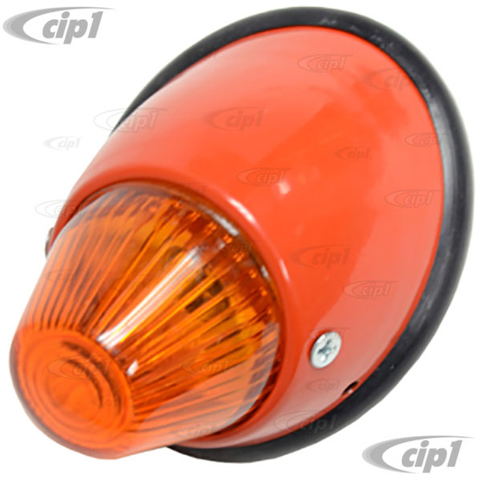 VWC-211-953-041-A - BULLET TURN SIGNAL ASSEMBLY WITH AMBER LENS - LEFT - BUS 55-61