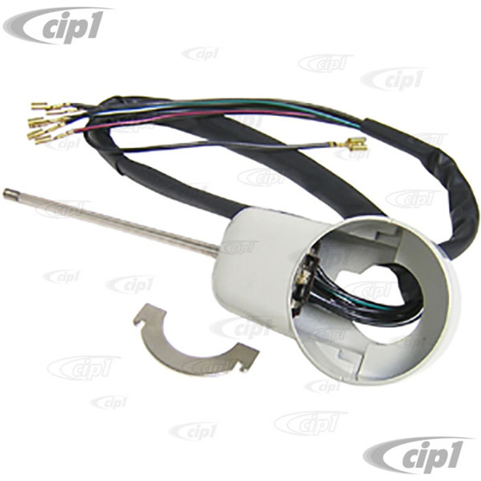 VWC-211-953-513-E - (211953513E) TURN SIGNAL SWITCH - 6 WIRE WITH HOUSING - BUS 58-65 - SOLD EACH