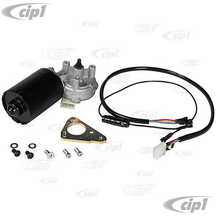 VWC-211-955-113-G - (211955113G) EXCELLENT QUALITY - 12-VOLT WIPER MOTOR WITH MOUNTING BRACKET - 2 SPEED - BUS 66-67 - SOLD EACH