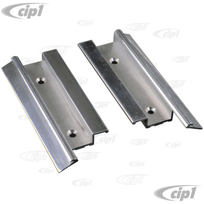VWC-225-875-726-Q - (225875726Q) BEST QUALITY MADE BY AUTOCRAFT IN U.K. - POLISHED ALUMINIUM SUN ROOF REAR RAIL ENDS ONLY - LEFT AND RIGHT - BUS 55-67 - SOLD PAIR