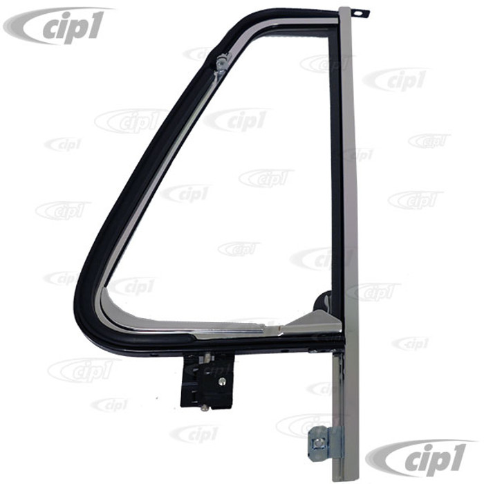 VWC-241-837-601-SET - (241837601) QUALITY REPRODUCTION - COMPLETE CHROME VENT WINDOW ASSEMBLY - LEFT SIDE - BUS 68-79 - SOLD EACH