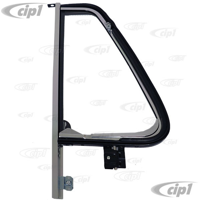 VWC-241-837-602-SET - (241837602) QUALITY REPRODUCTION - COMPLETE CHROME VENT WINDOW ASSEMBLY - RIGHT SIDE - BUS 68-79 - SOLD EACH