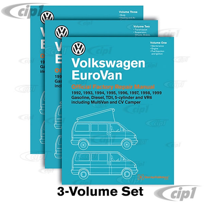ACC-C30-9656 - (VV99) 92-99 EUROVAN 3 VOLUME SET BENTLEY SERVICE MANUAL - SOLD EACH