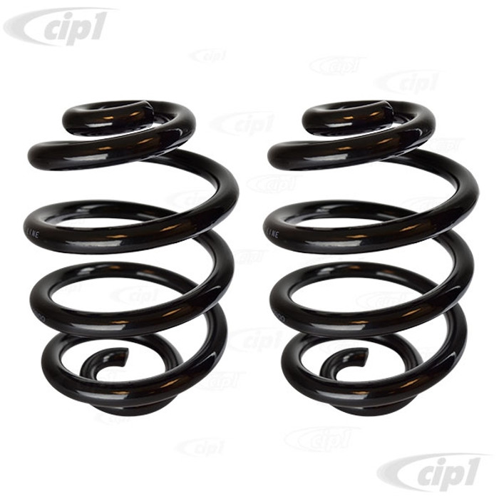 VWC-251-511-105-APR - (251511105A) PAIR OF REAR SUSPENSION COIL SPRINGS - STANDARD DUTY - VANAGON 80-91 (NON-SYNCHRO ONLY) - SOLD PAIR