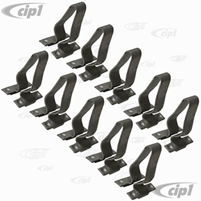 VWC-251-807-249-10 - METAL MOUNTING CLIPS FOR AFTERMARKET RUBBER BUMPER IMPACT STRIP ONLY (WILL NOT WORK ON ORIGINAL VW STRIPS) - VANAGON 80-92 - SOLD SET OF 10