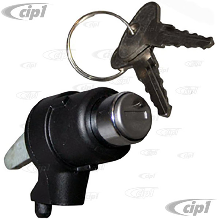 VWC-251-829-231 - (251829231) REAR TAILGATE LOCK WITH KEYS - BLACK - VANAGON 80-84 - SOLD EACH
