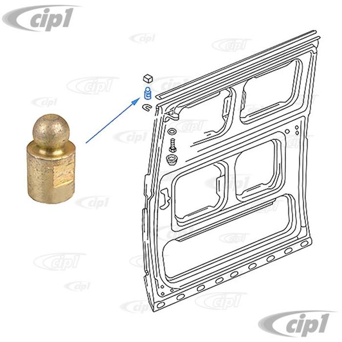 VWC-251-843-441 - (251843441) GERMAN - SLIDING DOOR TOP GUIDE PIN - UPPER - T25 VANAGON 80-84 - SOLD EACH