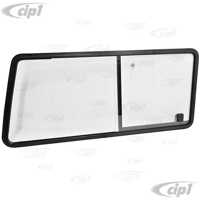 VWC-253-847-766 - (253847766) EXCELLENT QUALITY - SLIDING WINDOW FOR THE RIGHT REAR SIDE - WITH SLIGHT GREY TINT (SEAL SOLD SEPARATELY - SEE 253-845-341) - LHD PASSENGER SIDE - VANAGON 80-91 - SOLD EACH