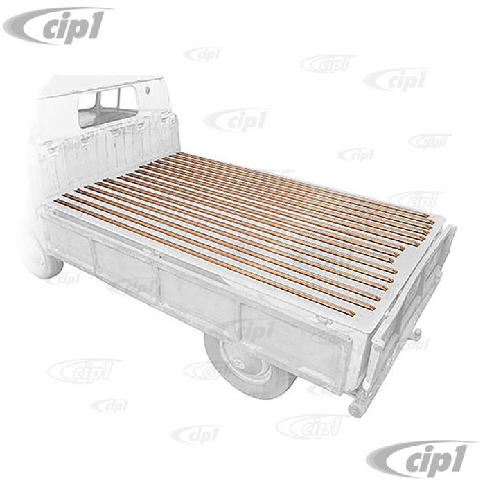 VWC-261-898-001-A - (261898001A) MADE IN EUROPE - CARGO BED WOOD SLAT KIT (ATTACHING HARDWARE NOT INCLUDED - SEE ACC-C20-3600) - TYPE-2 SINGLE CAB 68-79 - SOLD EACH