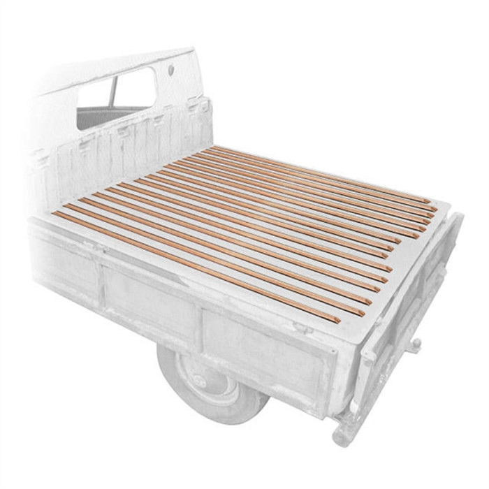 VWC-265-898-001-A - (265898001A) MADE IN EUROPE - CARGO BED WOOD SLAT KIT (ATTACHING HARDWARE NOT INCLUDED - SEE ACC-C20-3600) - TYPE-2 DOUBLE CAB 68-79 - SOLD SET