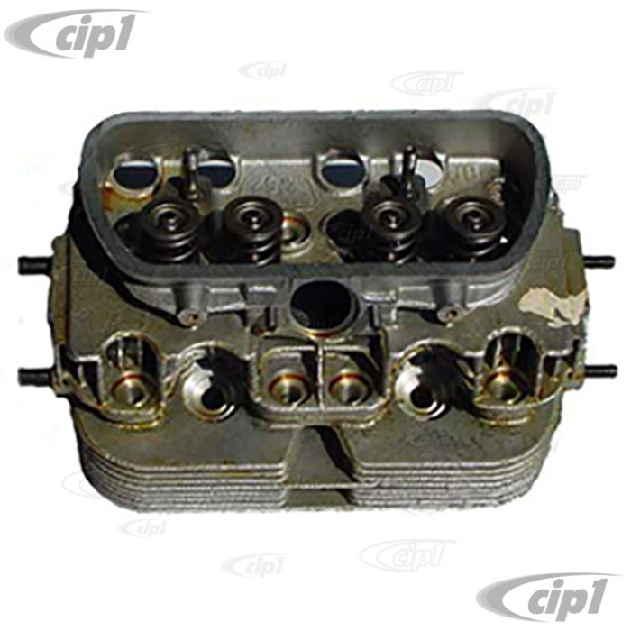 VWC-311-101-353-AKIT - (311101353A) NEW COMPLETE SINGLE PORT CYLINDER HEAD KIT - ALL STOCK 15-1600CC BEETLE/GHIA/BUS 67-70 - ASSEMBLY REQUIRED - SOLD AS KIT