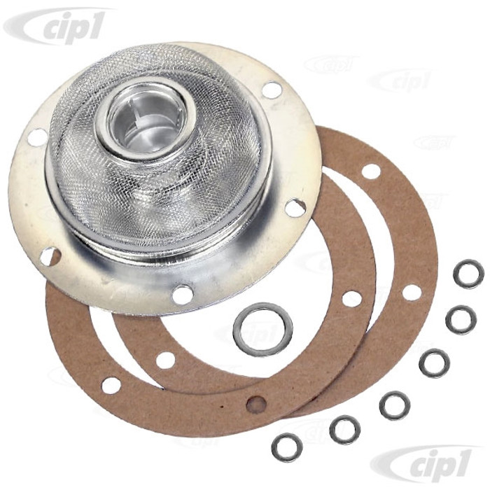 VWC-311-115-175-AKT - (311115175A) TOP QUALITY OIL STRAINER SCREEN KIT - BEETLE/GHIA 12-1600CC 62-69 - WITH 16MM PICK-UP TUBE - SOLD EACH