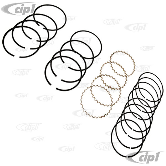 VWC-311-198-169-A - PISTON RING COMPLETE SET - ( ALL RINGS FOR 1 ENGINE) 85.5MM 1600CC - BEETLE/GHIA/TYPE-3 70-79 - BUS