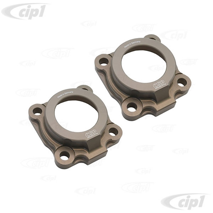 VWC-311-501-311-APR - (311501311A) CSP - PAIR OF CNC BILLET ALUMINUM AXLE HOUSING BRG CAPS (SHORT AXLE) - BEETLE/GHIA 61-67 - SOLD PAIR