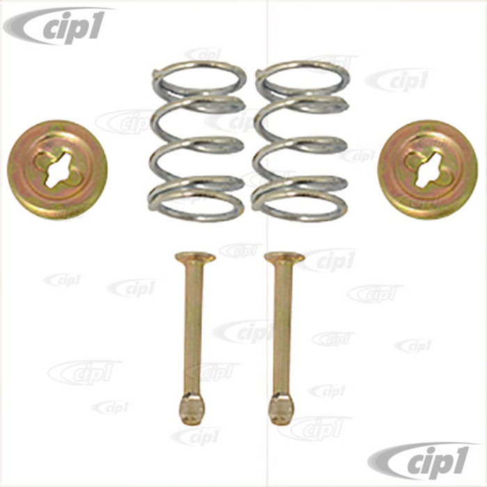 VWC-311-698-071 - (311698071) BRAKE SHOE RETAINER KIT - CONTAINS 2 26MM PINS / 2 SPRINGS & 2 CAPS - BEETLE/GHIA TO 1967 - SOLD 6 PIECE SET