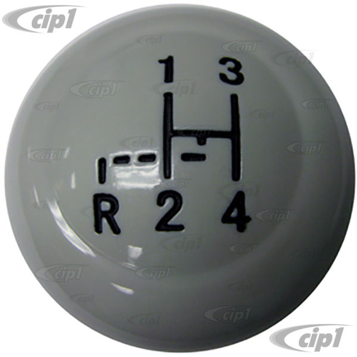 VWC-311-711-141-PGY - (311711141) EXCELLENT REPRODUCTION - GREY SHIFT KNOB WITH SHIFT PATTERN - 12MM - BEETLE 68-79 - GHIA 68-74 - BUS 68-79 - THING 73-74 - SOLD EACH