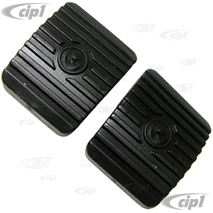 VWC-311-721-173-ANW2 - PAIR OF BRAKE & CLUTCH PEDAL PADS - NEW STYLE WITH SQUARE CORNERS - BEETLE 46-79 / GHIA 56-74 / BUS 55-67 / TYPE-3 62-74 / THING 73-74 - SOLD PAIR