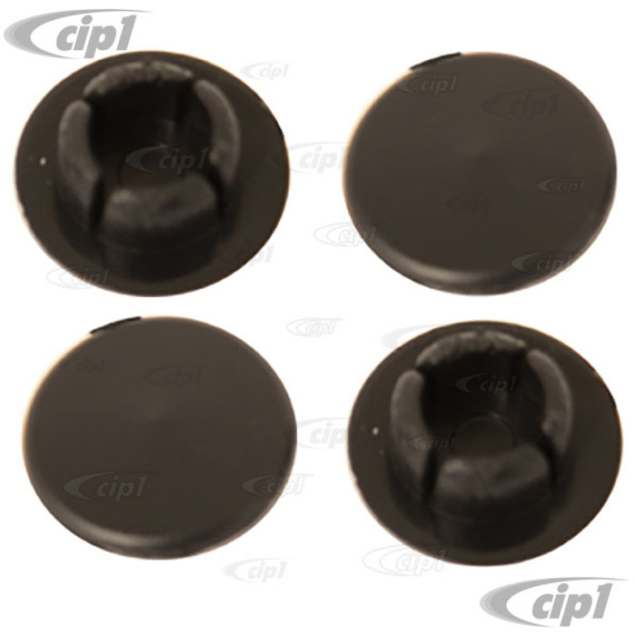 VWC-311-831-439-ASET - (311831439A) EXCELLENT GERMAN QUALITY - SET OF 4 DOOR HINGE PIN OILING HOLE PLUGS - BLACK - BEETLE 68-79 - SET OF 4