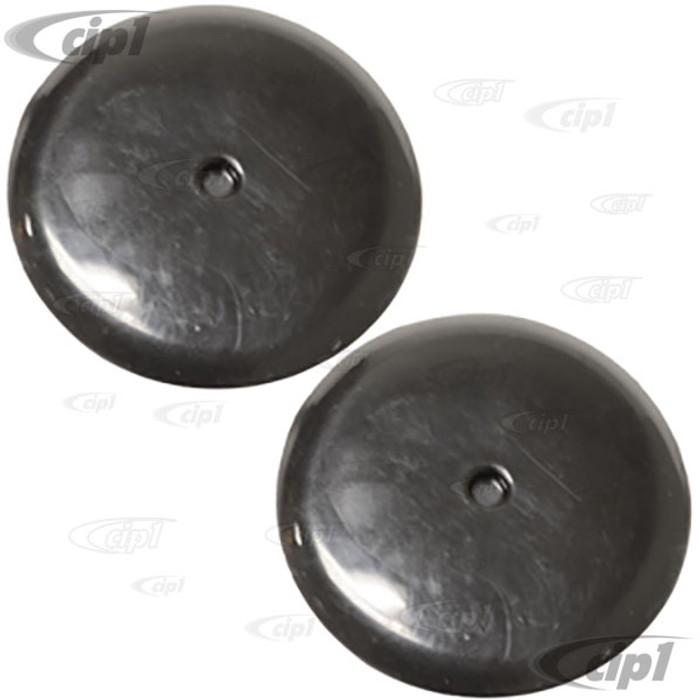 VWC-311-867-235-PR - (311867235) - PAIR OF BLACK HOLE COVERS / GROMMETS - INSIDE SPARE TIRE WELL SUPER BEETLE 71-79 - FITS 32.3MM HOLE - SOLD PAIR