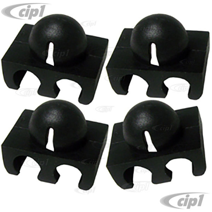 VWC-311-905-451-SET - OE QUALITY - 2-WIRE SPARK PLUG WIRE HOLDERS/CLIPS - BEETLE/GHIA 61-79/BUS 61-79/TYPE-3 62-74/THING 73-74 - SET OF 4
