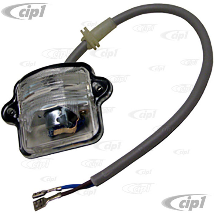 VWC-311-943-121-AKIT - (311943121A) - TOP QUALITY - COMPLETE LICENSE LIGHT LENS/BULB HOLDER/GASKET WITH WIRING HARNESS - BEETLE 64-79 / TYPE-3 FASTBACK & NOTCHBACK 69-74 - SOLD EACH