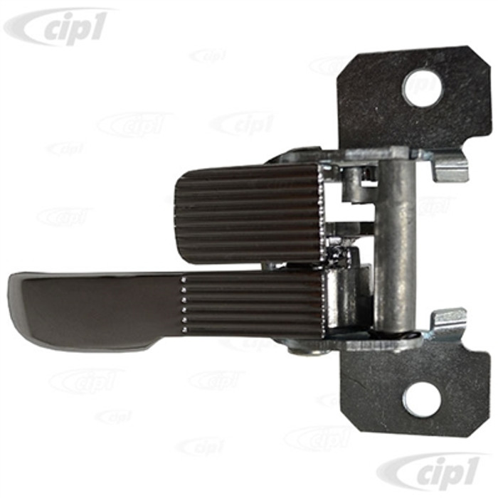 VWC-411-837-072 - (211837072 411837072) TOP QUALITY - RIGHT - FRONT DOOR INNER RELEASE LEVER WITH LOCK TAB - CHROME METAL - BUS 68-73 PLUS VARIOUS OTHER MODELS - SEE BELOW - SOLD EACH