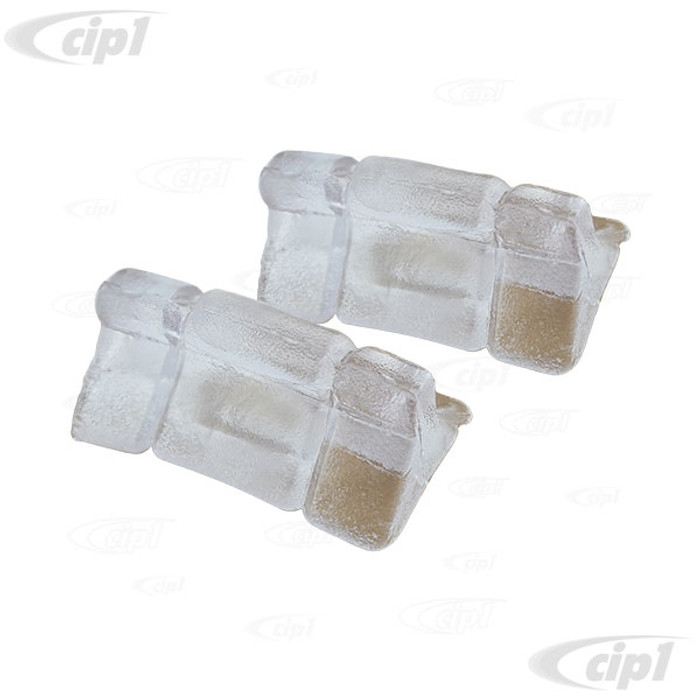 VWC-435-881-203-APR - (435881203A) OE QUALITY - PAIR OF UPPER BUSHINGS FOR CENTER OF SEAT TRACK PEDISTAL HUMP - BEETLE 73-79 (ALSO MOST WATERCOOLED MODELS TO-1998) - SOLD LEFT/RIGHT PAIR