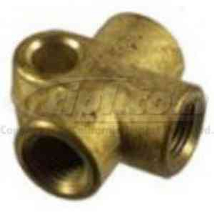 VWC-803-611-755 - BRASS BRAKE LINE T-FITTING - ALL BEETLE / GHIA / BUS 50-79 / TYPE 3 / THING