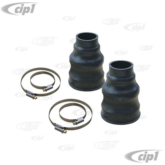 C24-111-501-151-PRKT - (111501151) EXCELLENT QUALITY FROM GERMANY - PAIR OF SWING AXLE BOOTS WITH CLAMPS - NON SPLIT STYLE - ALL BEETLE/GHIA/TYPE-3/BUS WITH SWING AXLE - SOLD PAIR