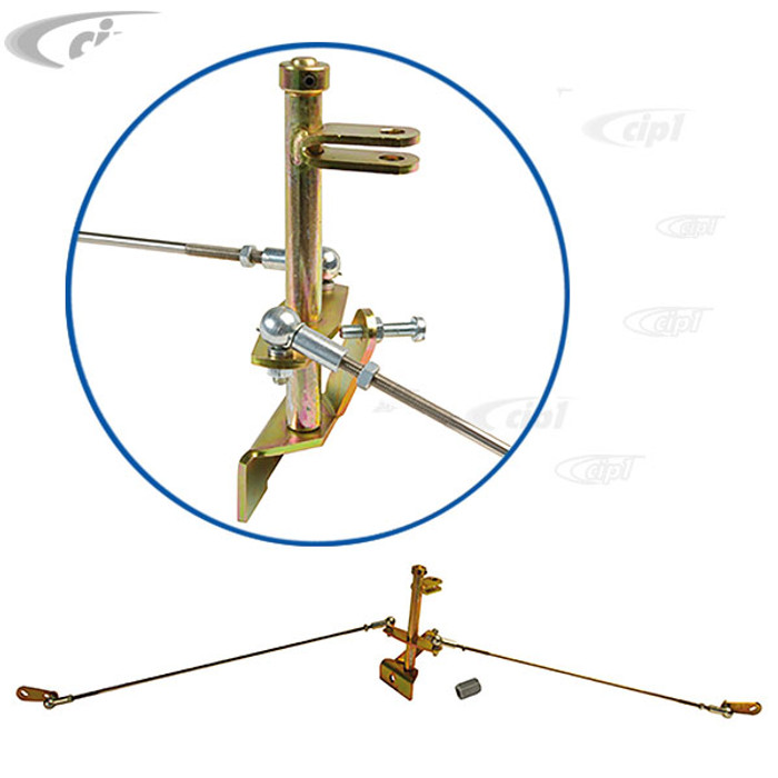 ACC-C10-5479 - CIP1 EXCLUSIVE - MADE IN GERMANY - UNIVERSAL CENTER PULL (TWIST - LEFT/RIGHT THREADS FOR EASY ADJUSTMENT) LINKAGE FOR USE WITH DUAL WEBER/EMPI/DELLORTO/SOLEX AND BROSOL CARB'S - TYPE-1 1600CC BEETLE STYLE ENGINES - SOLD KIT