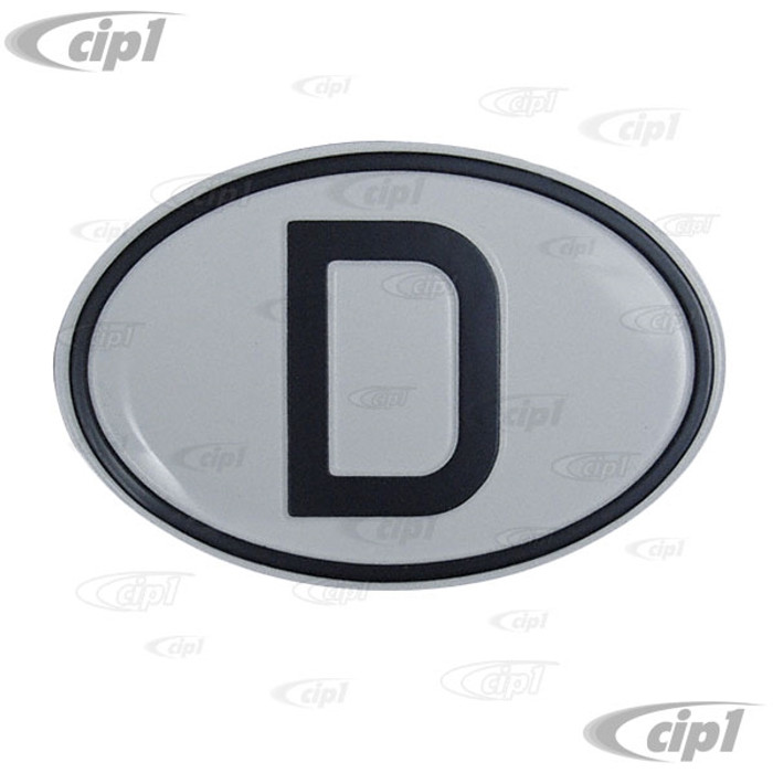 C10-20-2396 - MADE IN GERMANY - AULMINUM NATIONALITY D-PLATE (DRILLING HOLES REQUIRED) - UNIVERSAL - SOLD EACH