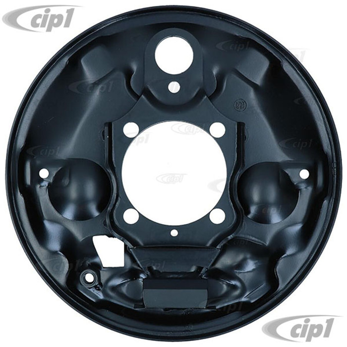 VWC-113-609-439-B - (113609439B) - EXCELLENT EUROPEAN PRODUCTION - LEFT - REAR BRAKE BACKING PLATE - BEETLE/GHIA 58-64 - SOLD EACH