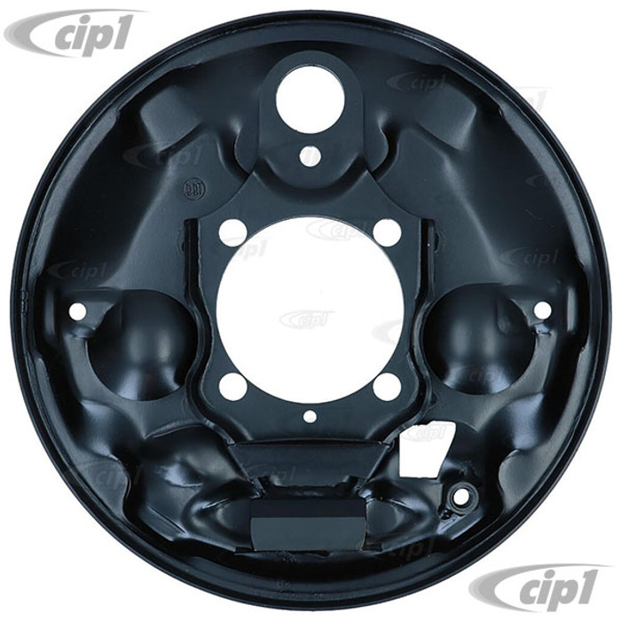 VWC-113-609-440-B - (113609440B) - EXCELLENT EUROPEAN PRODUCTION - RIGHT - REAR BRAKE BACKING PLATE - BEETLE/GHIA 58-64 - SOLD EACH