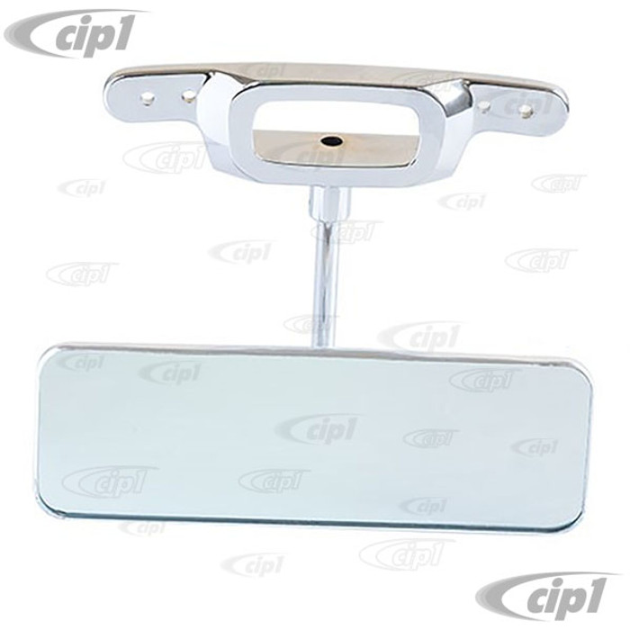 VWC-143-857-523-B - (143857523B) - EXCELLENT REPRODUCTION - INTERIOR REAR VIEW MIRROR WITH BRIGHT CHROME BASE AND BRUSHED ALUMINUM HEAD (JUST LIKE ORIGINAL) - GHIA 65-67 (ALSO BEETLE CONVERTIBLE 65-67) - SOLD EACH