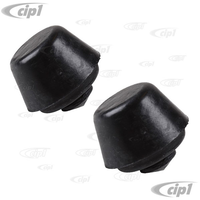 VWC-251-501-191-APR - (251501191A) - OE QUALITY FROM EUROPE - PAIR OF LEFT / RIGHT REAR TRAILING/RADIUS ARM RUBBER BUMPER STOPS - VANAGON 80-91 - SOLD PAIR