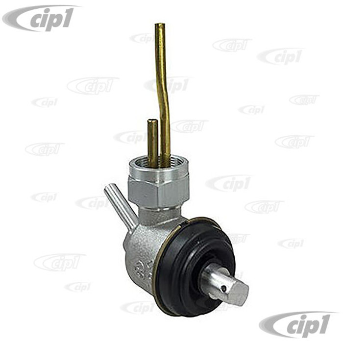 VWC-211-209-021-DB (211209021D) - GENUINE GERMAN - FUEL RESERVE TAP WITH 6MM INLET TUBE (FROM CHASSIS # 20-117903) - (SEE SPECIAL NOTE) - BUS 55-67 - SOLD EACH