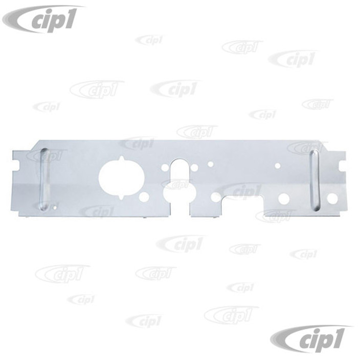 VWC-211-703-351-B - (211703351B) SILVER WELD-THROUGH HIGH QUALITY SHEET METAL - EXCELLENT REPRODUCTION - REINFORCEMENT PLATE BETWEEN FRONT CHASSIS BEAMS - BUS 55-67 - SOLD EACH