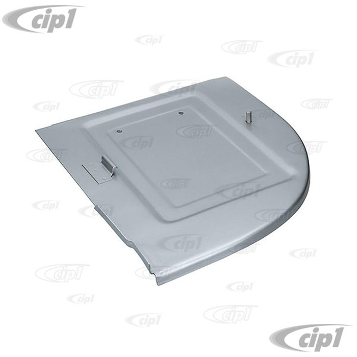 VWC-211-813-164 - (211813164) - SILVER WELD-THROUGH HIGH QUALITY SHEET METAL - BATTERY TRAY - RIGHT SIDE UNDER BATTERY - BUS 50-67 - SOLD EACH