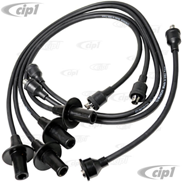 BOS-09001 - BOSCH (NEW DESIGN WITH CARBON CORE) IGNITION WIRE SET 12-1600CC (SEE SPECIAL NOTE) - BEETLE 46-79 / GHIA 56-74 / BUS 50-71 - SOLD SET