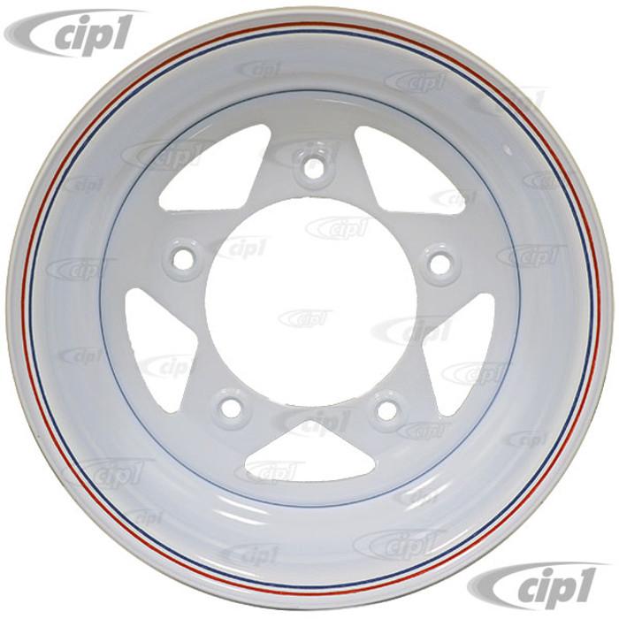 ACC-C10-1015 - WHITE SPOKE STEEL BAJA WHEEL 15X6 - 5X205MM BOLT PATTERN - 3-3/4 INCH BACKSPACING SOLD EACH - (A25)